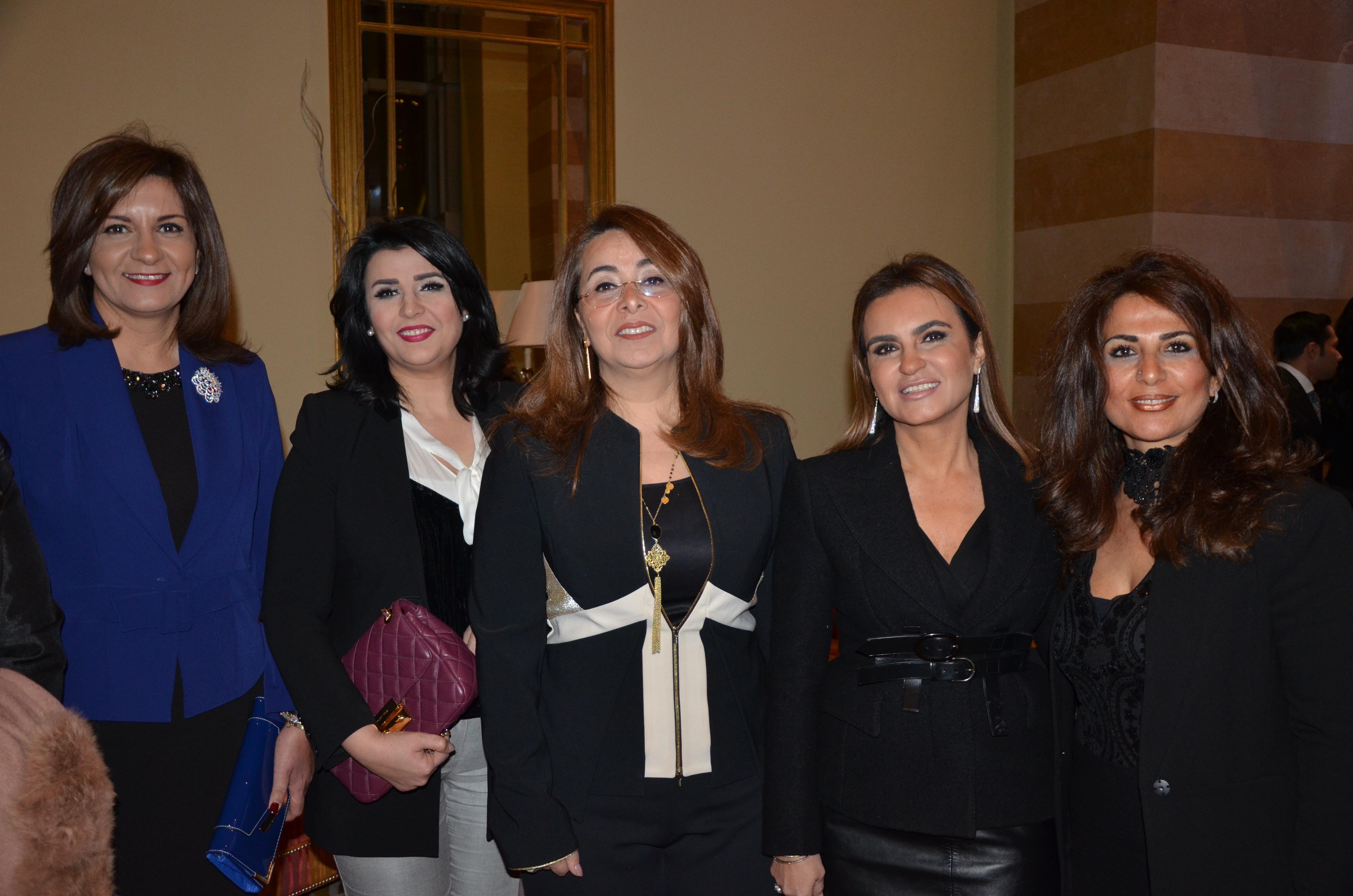 H.E. Ambassador Nabila Makram Abdel Shahid, H.E. Ghada Wally, H.E. Dr. Sahar Nasr & Nermine Ehssan