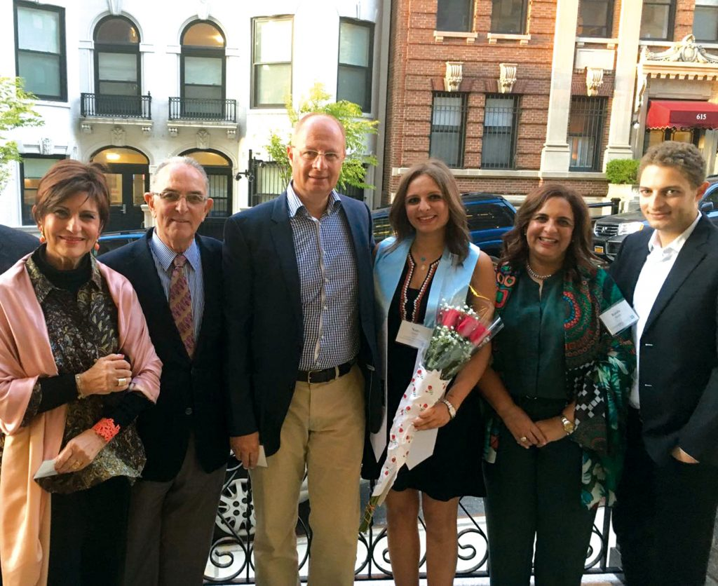 With the family at the graduation of her granddaughter, Nada Zaher, from Columbia University