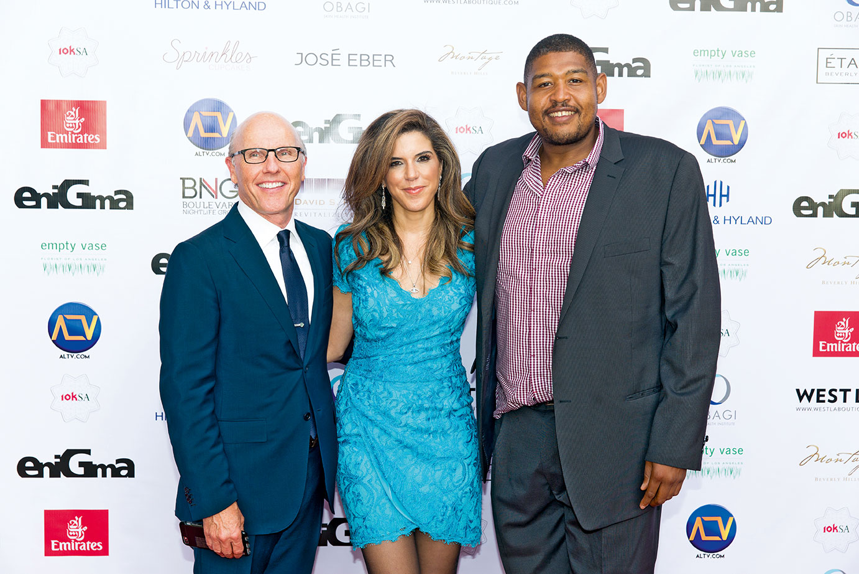 Entreprenuer-David-McCourt,-Yasmine-Shihata-&-US-Actor-Omar-Benson-Miller