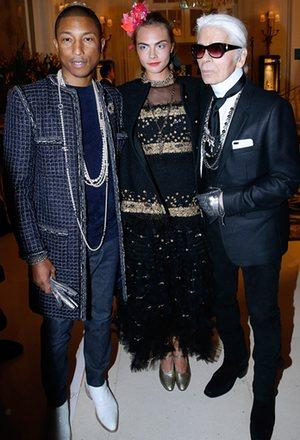 Pharrell Williams, Cara Delevingne & Karl Lagerfeld