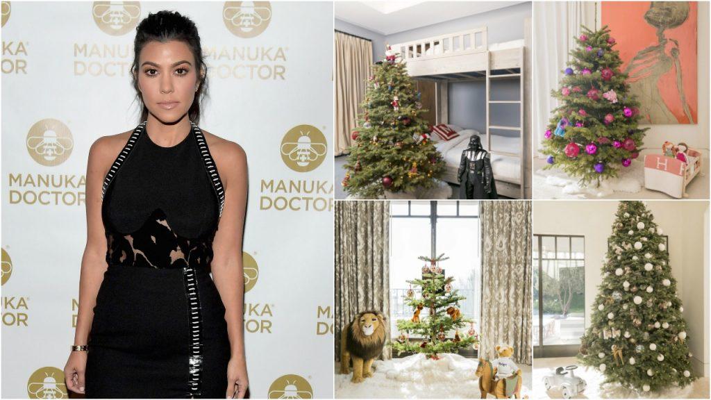 Kourtney Kardashian Christmas Trees