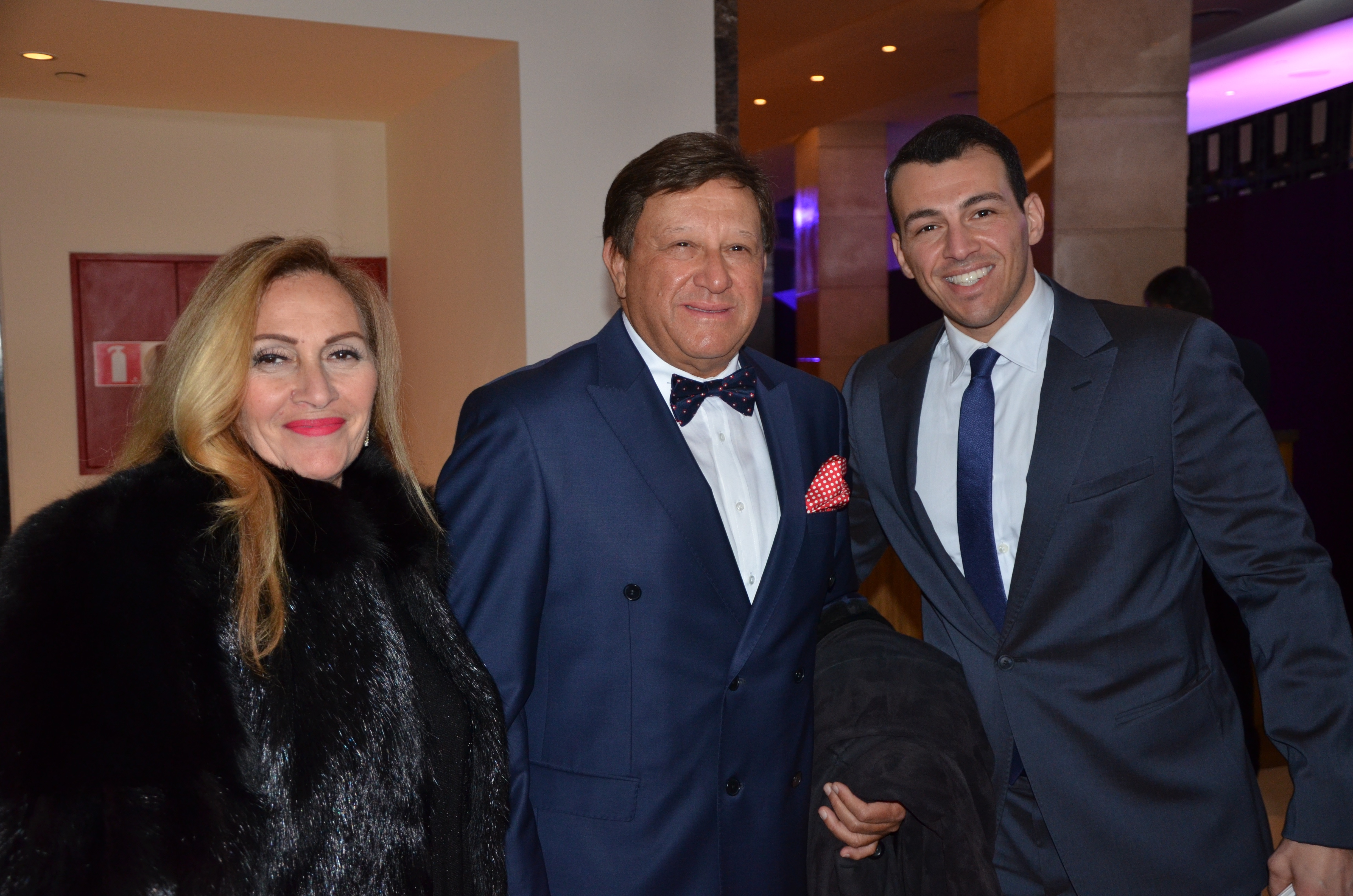 Alaa Radwan and his wife with Rami Radwan