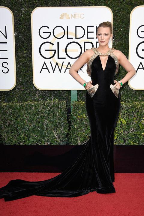 Blake Lively in custom Atelier Versace dress