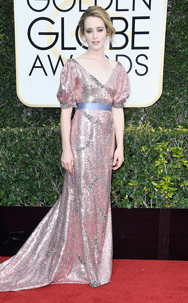 Claire Foy in Erdem dress