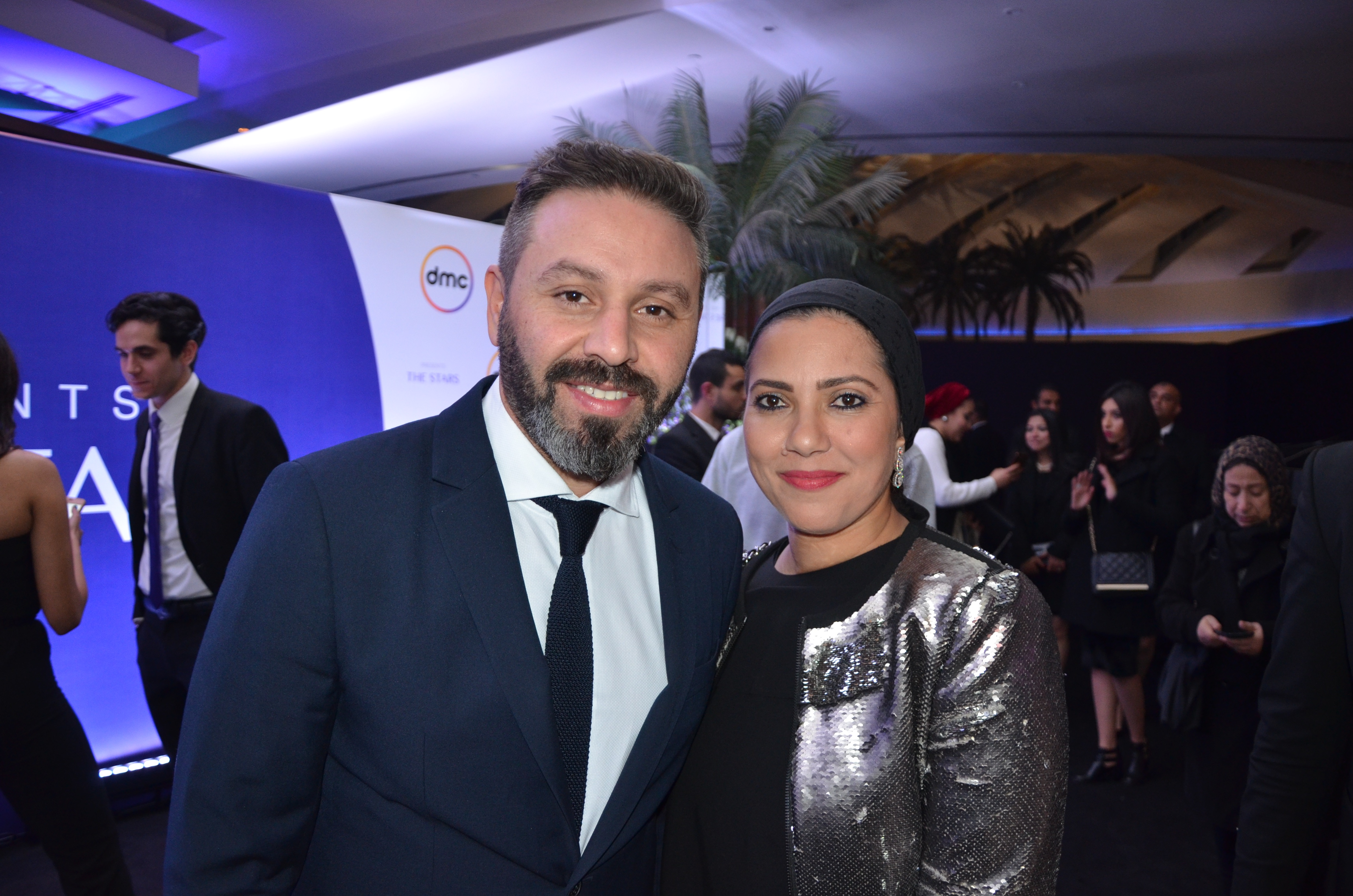 Hazem Emam and his wife