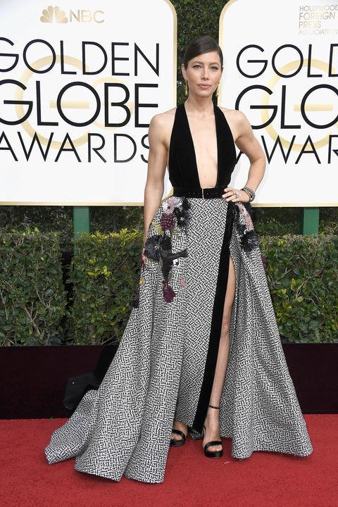 Jessica Biel in Elie Saab Haute Couture dress