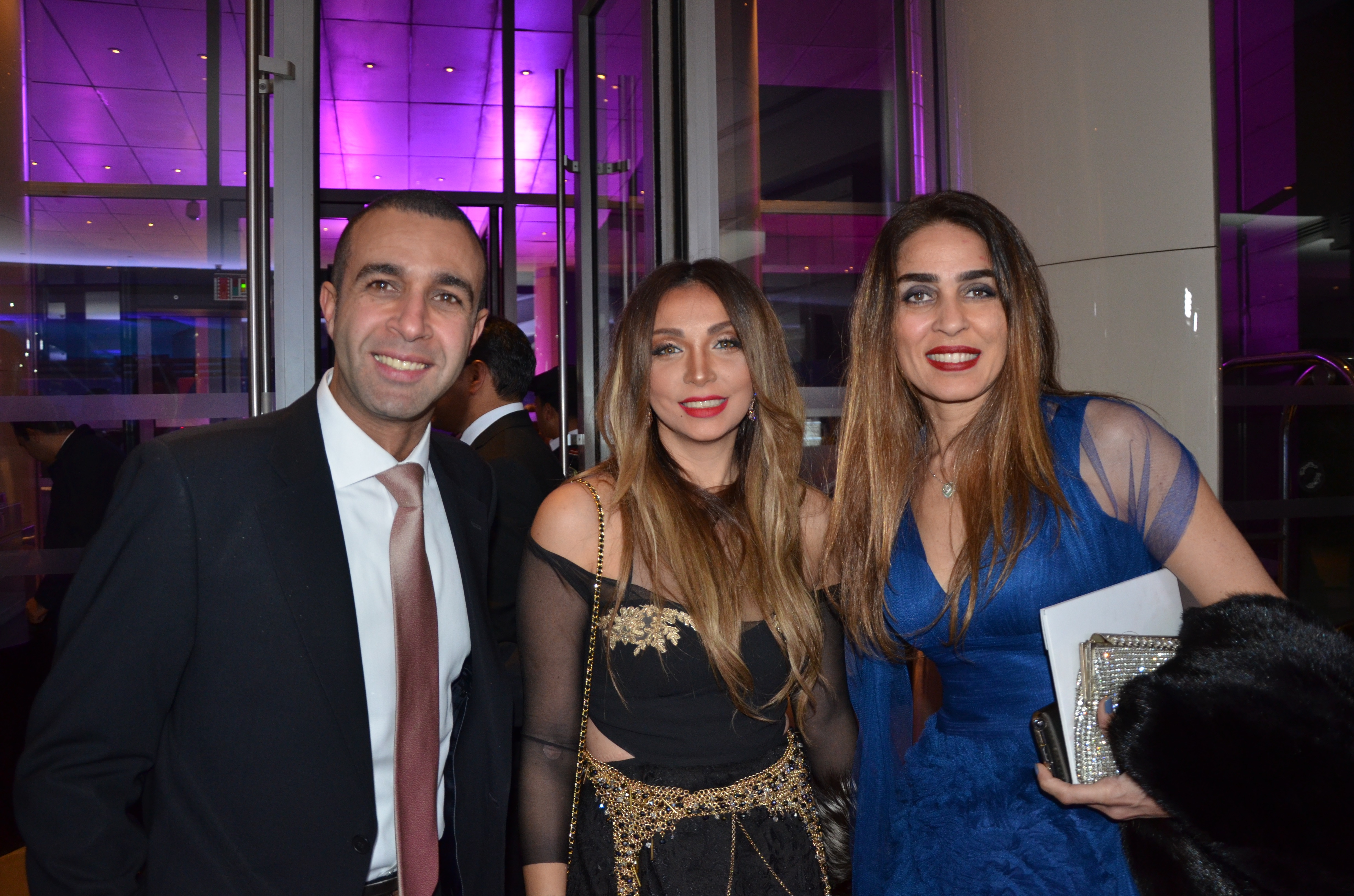 Khalid Galal and his wife with Yasmine El Hosseini