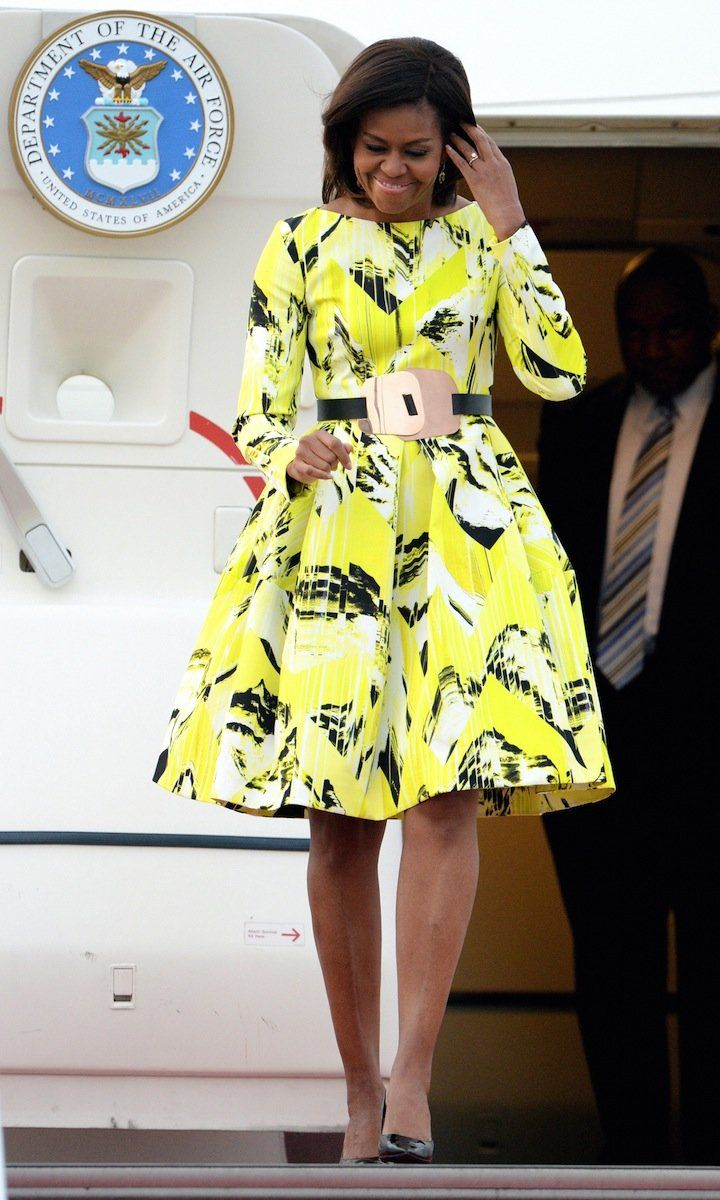 Michelle Obama in Kenzo on her first visit to Japan