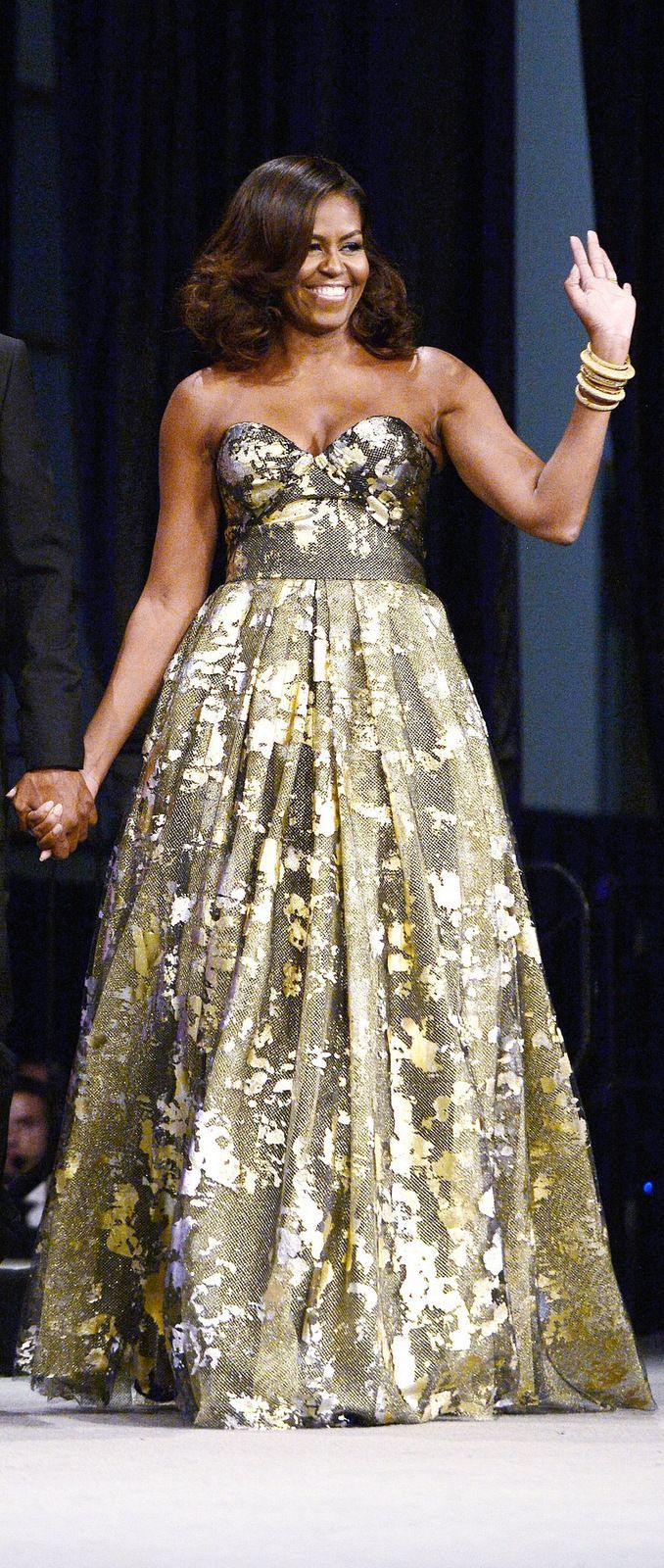 Michelle Obama in Naeem Khan at the Phoenix Awards Dinner