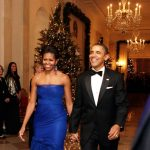 Michelle Obama in Vera Wang & President Barack Obama at the 34th Annual Kennedy Center Honors