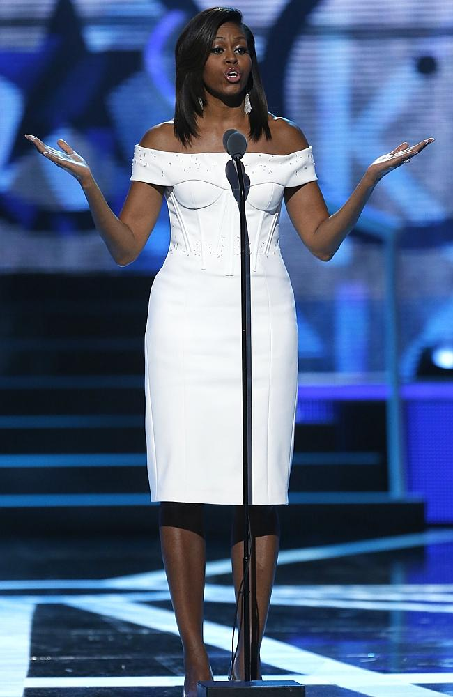 "Michelle Obama in Zac Posen at the ""Black Girls Rock!"" BET Special"