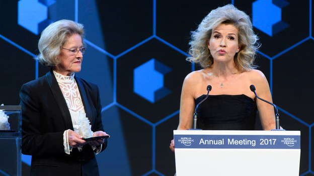Founder of the Anne-Sophie Mutter Foundation and violinist Anne-Sophie Mutter receives Crystal Award for her leadership in providing opportunities for young people to develop careers as musicians