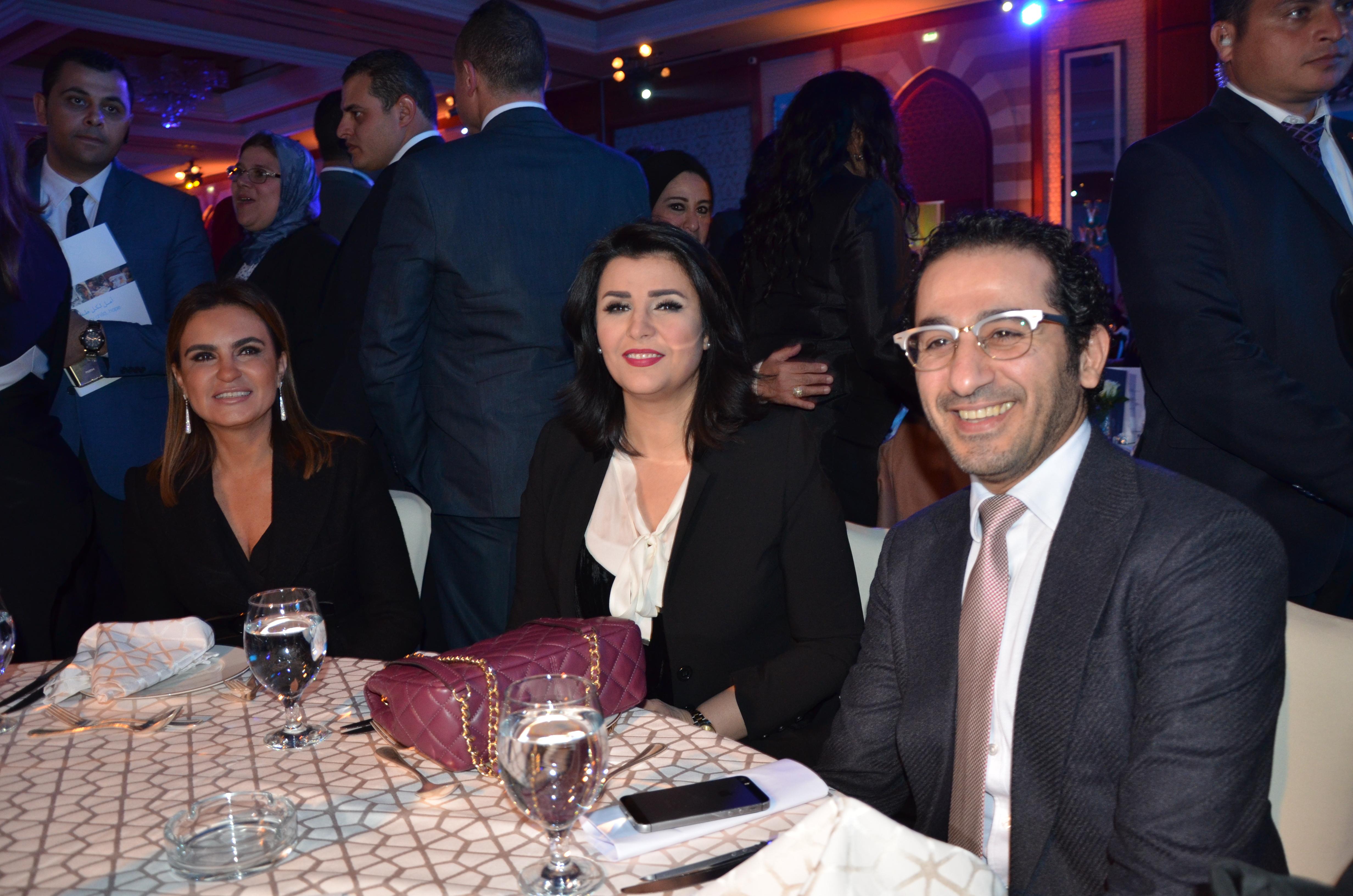 H.E. Dr. Sahar Nasr, Mona El Shazly & Ahmed Helmy