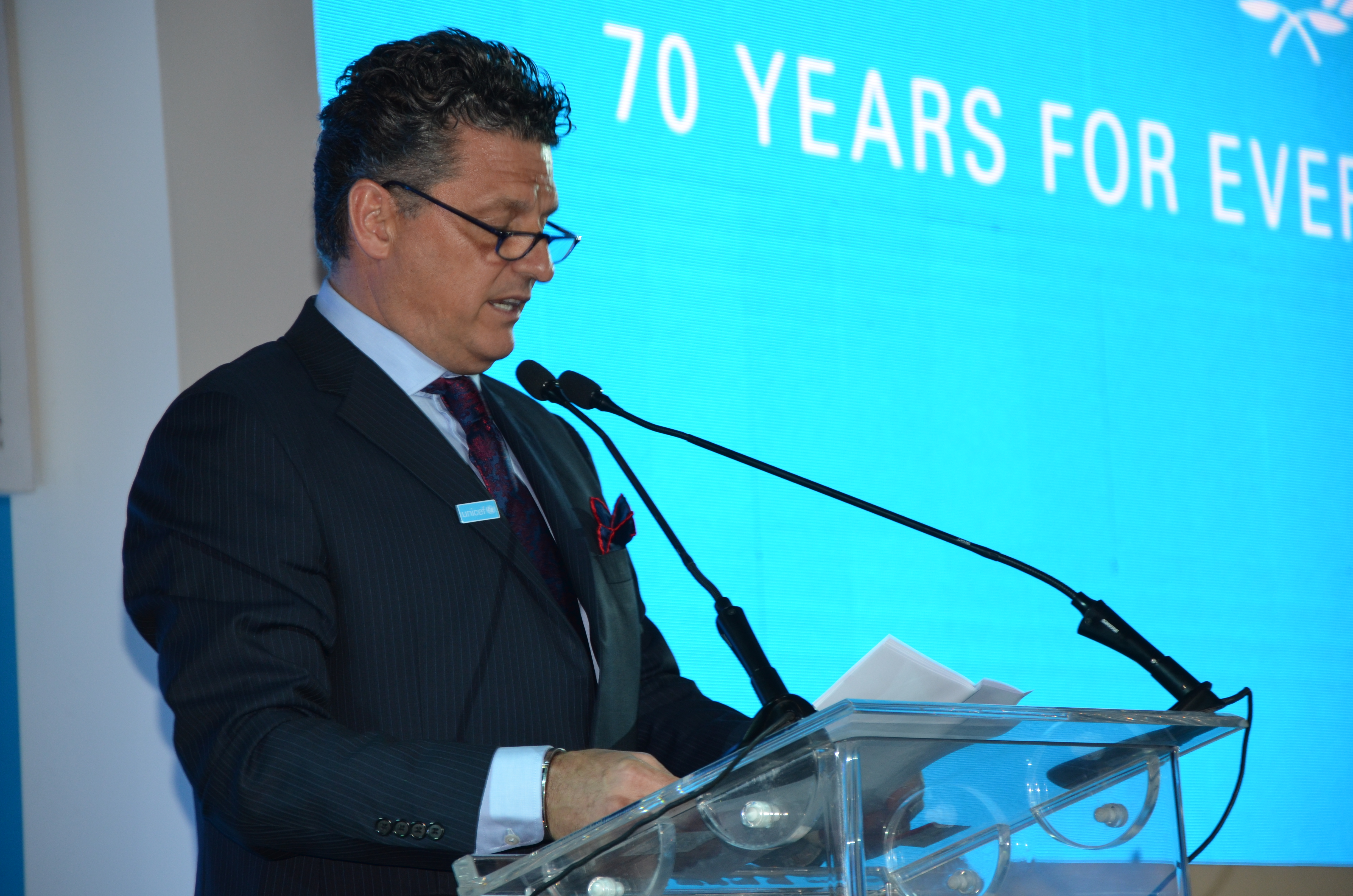 UNICEF Representative in Egypt Mr. Bruno Maes
