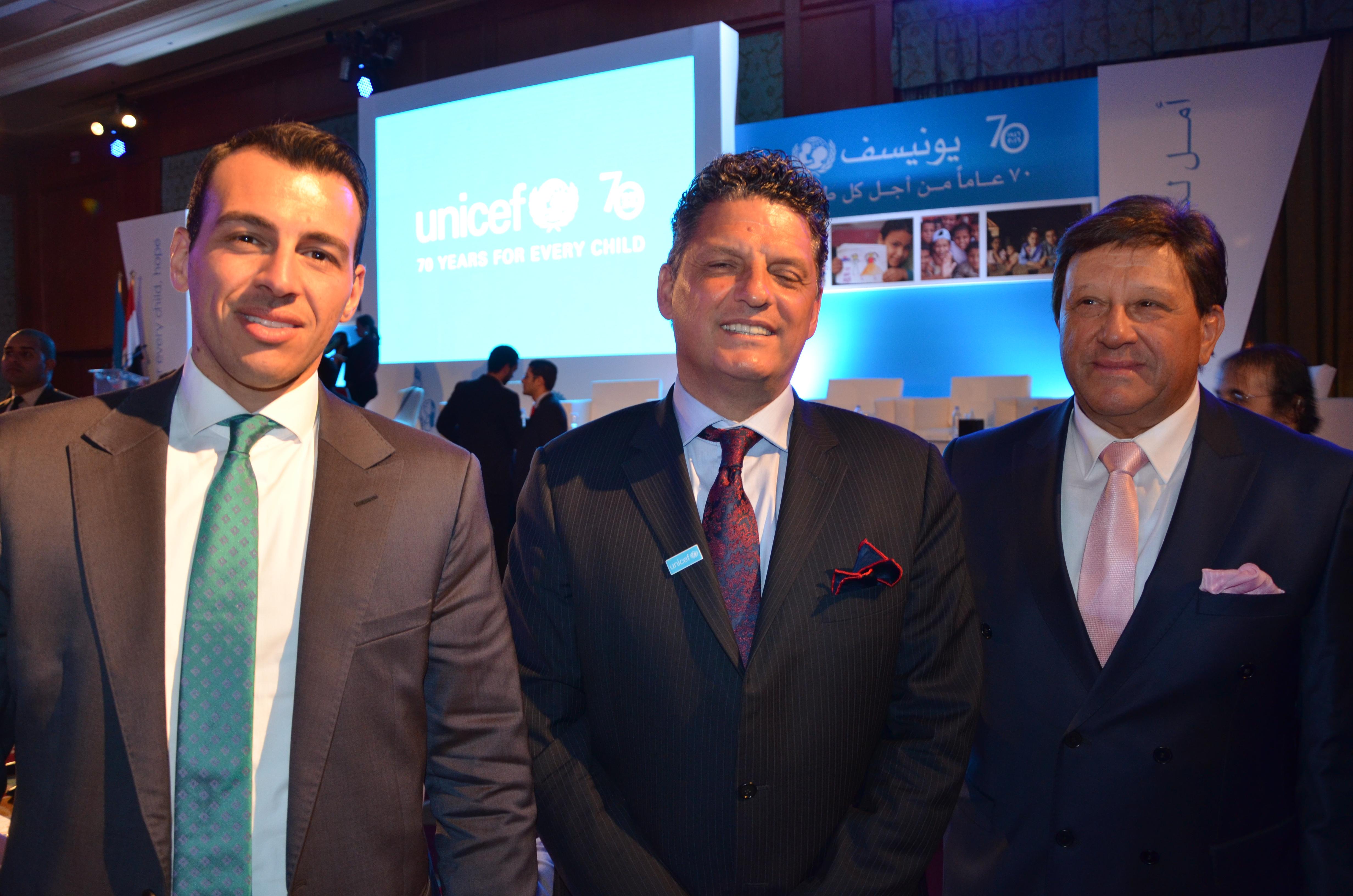 Ramy Radwan, UNICEF Representative in Egypt Mr. Bruno Maes & Mr. Alaa Radwan