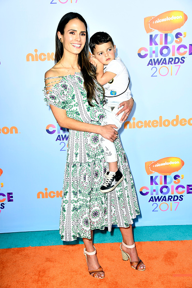 Jordana Brewster's baby does not even seem happy. Do you think he is as embarrassed by mommy as we are?
