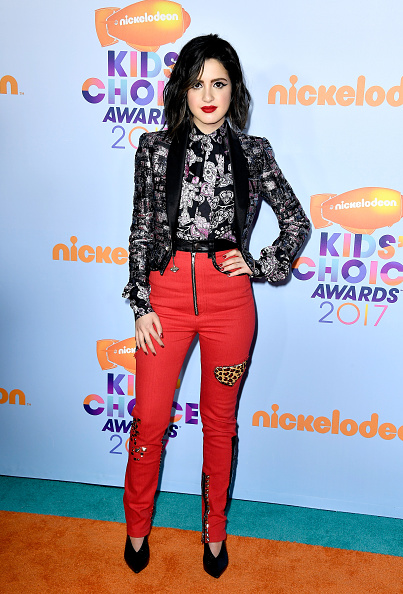 Laura Marano - the only thing that helps is that she looks like Kelly Osbourne, except Kelly probably would have been able to pull this off. Can we all take a minute to concentrate on the leopard print patch?