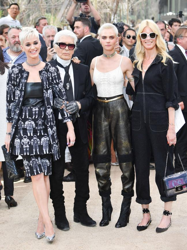 Katy Perry, Karl Lagerfeld, Cara Delevingne & Claudia Schiffer