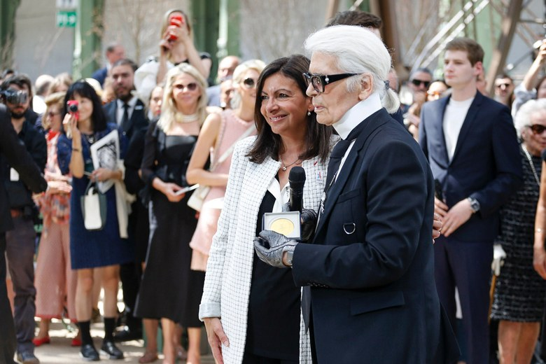 Mayor Anne Hidalgo & Karl Lagerfeld