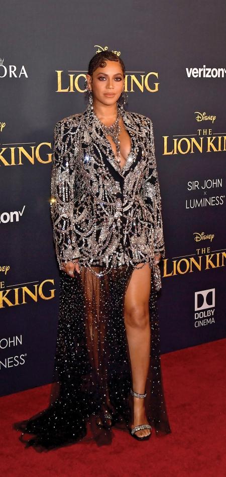 Beyonce in Alexander McQueen