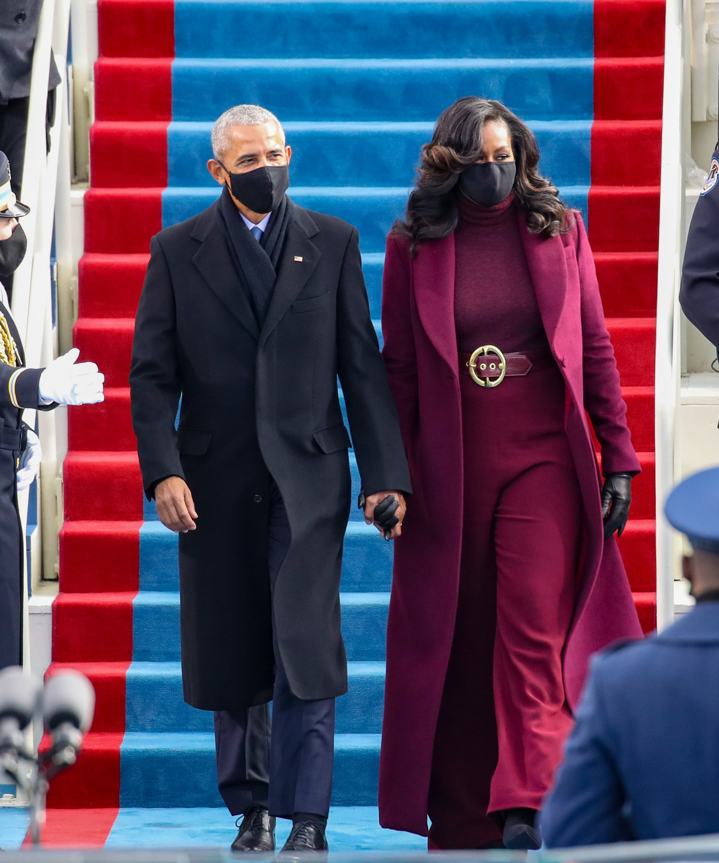 Barack & Michelle Obama in Sergio Hudson