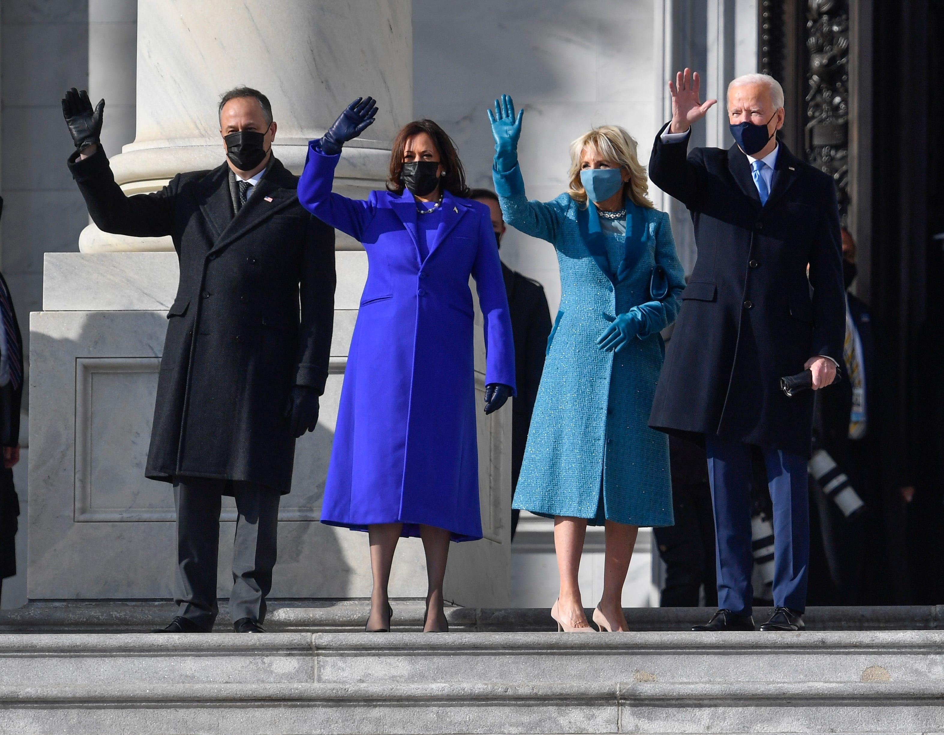 Doug Emhoff, Vice President Kamala Harris, Jill Biden & President Joe Biden